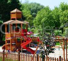 Modern playground in a leisure park