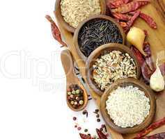Raw Rice Assortment