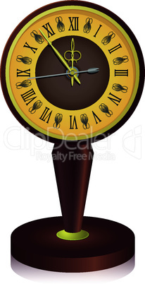 The vintage  clock shortly before midnight. vector.