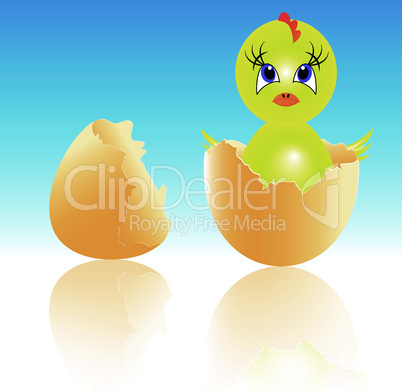 easter holiday illustration with chicken