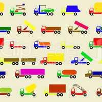 Cars, vehicles. Car body. Seamless wallpaper.