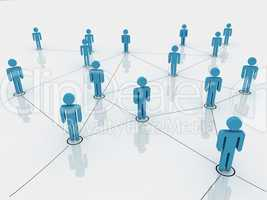 human figures as a symbol of social network