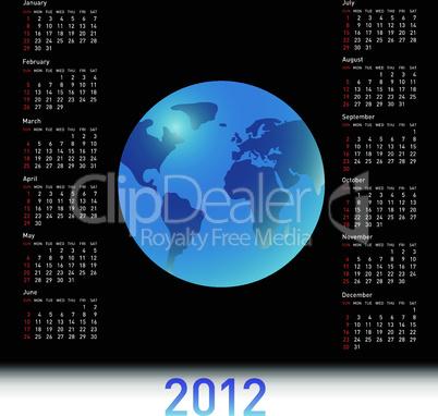 A globe Calendar for 2012