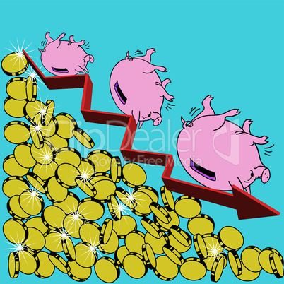 The  financial crisis Concept Illustration