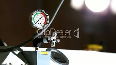 industrial pressure barometer at work