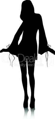 Vector - Silhouette fashion girls