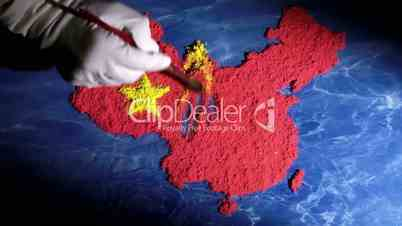 China map - time lapse
