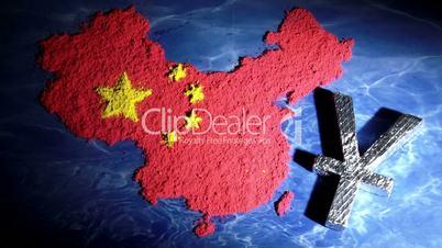 China map, yuan