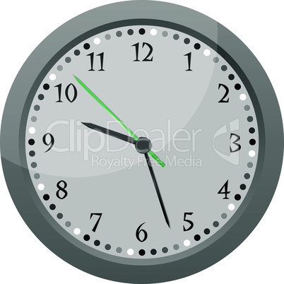 wall clock Vintage orange isolated on white background vector