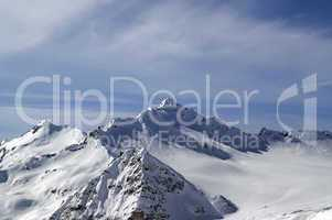 View from the ski slope on Mount Elbrus