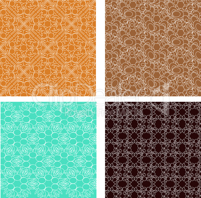 ornate patterns set in modern style. vector