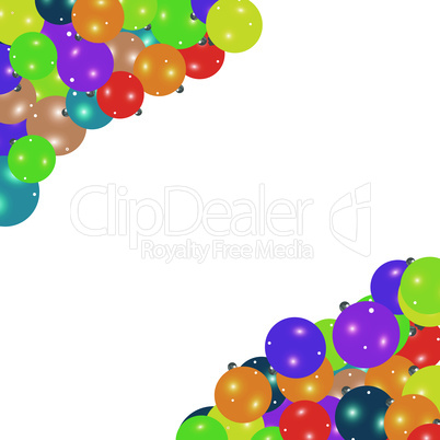frame border on Christmas balls isolated on white background vector