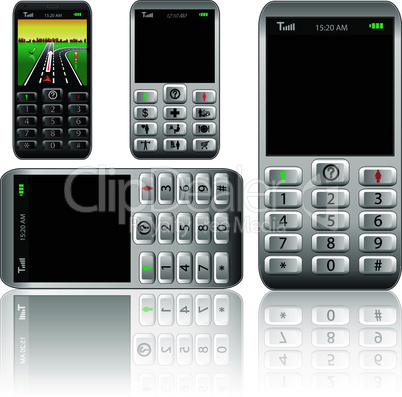 Vector mobile phones,original design