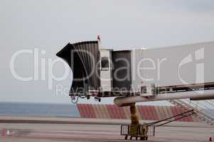 Finger Gate In Airport At The Coast