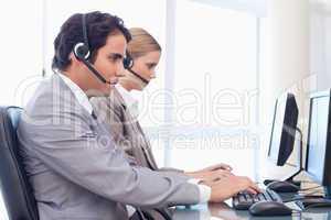 Operators using a computer
