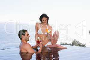 Young couple having a cocktail