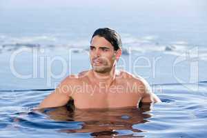 Handsome man relaxing