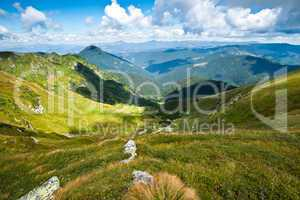 Carpathian mountains landscape in Ukraine