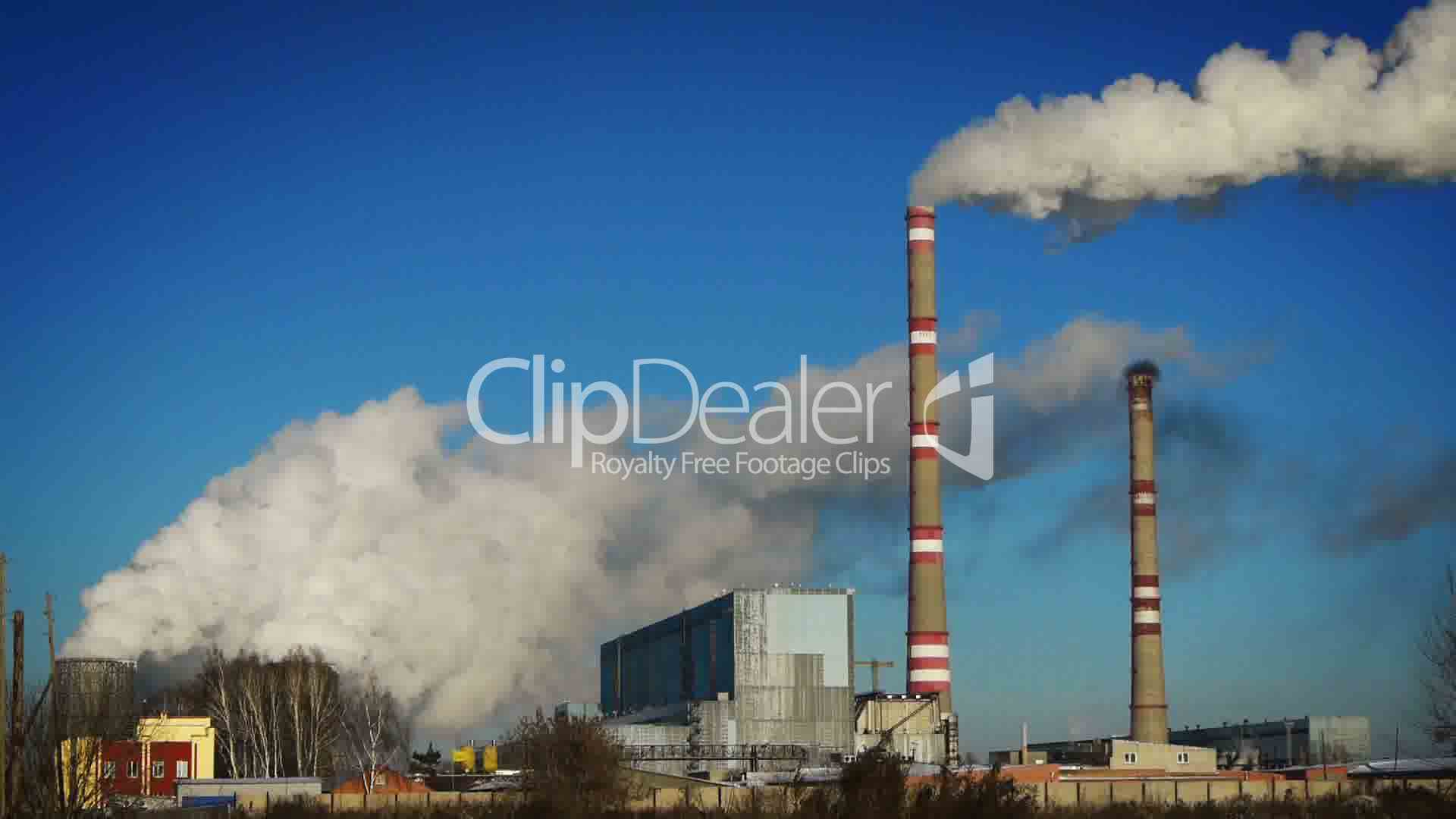 Coal Burning Power Plant Royalty Free Video And Stock Footage