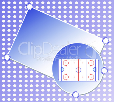 vector ice hockey field blue greetings card winter background