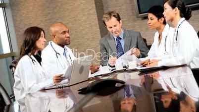 Ärzte und Geschäftsmann