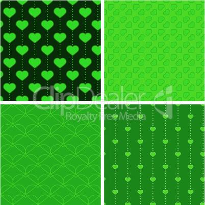 Endlosmuster Herz grün
