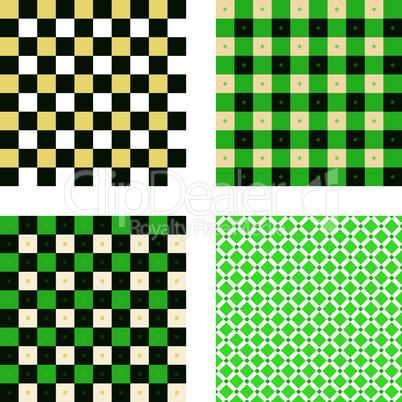 Endloses Muster Quadrat grün