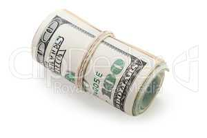 Rolled dollar currency