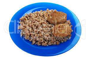 Cutlet buckwheat food