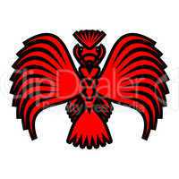 Eagle symbols and tattoo, vector illustration.