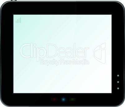 Blank digital PC tablet vector isolated on white