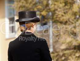 Kentucky riding hat on lady