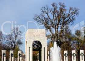 Atlantic tower in WW2 memorial in DC