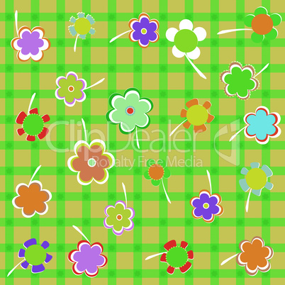 Beautiful Floral background. Flower Border vector design