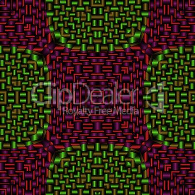 metallic red green mesh