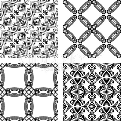 op art monochromatic patterns