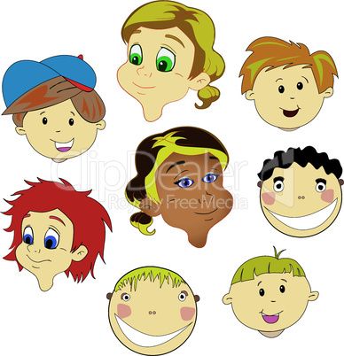 children faces