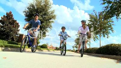 Family Healthy Cycling Fitness