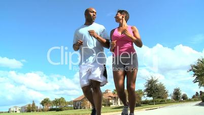 African American Female with Personal Trainer