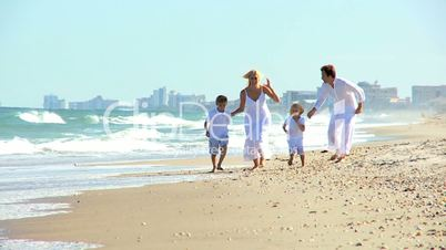 Healthy Family Beach Vacation Fun