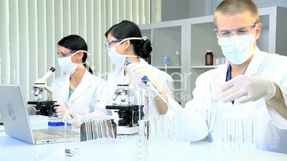 Research Assistants Working in Medical Laboratory