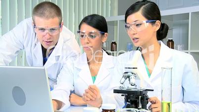 Male Doctor in Laboratory with Medical Students