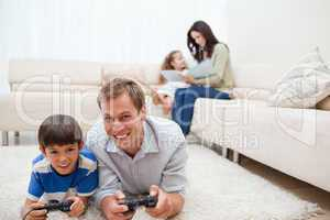 Family enjoys spending their leisure time together
