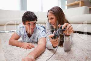 Woman just defeated her boyfriend at a video game