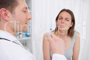 Doctor about to give an injection