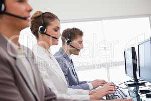 Side view of customer advisory service