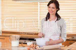 Gorgeous woman baking