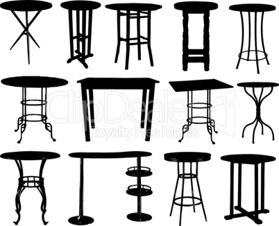 A set of bar tables