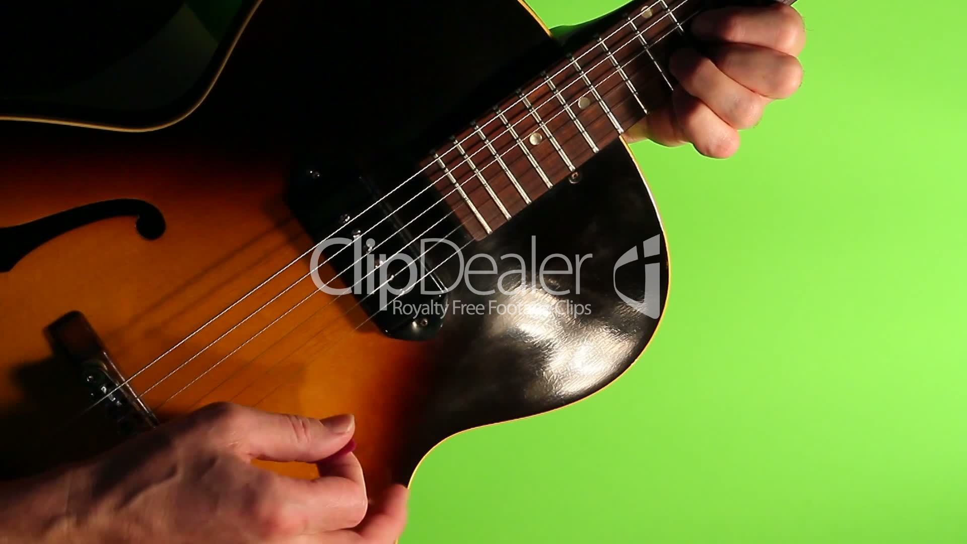 Blues jazz guitar green screen: Royalty-free video and stock