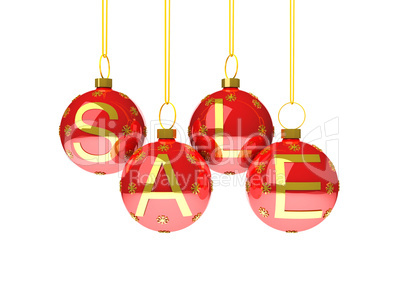 Sale with christmas decoration